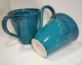 Turquoise cup set of 2 - 8 oz - perfect Valentine's day dift
