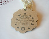 Custom Listing for Marlou - 30 Robot Craft Tags
