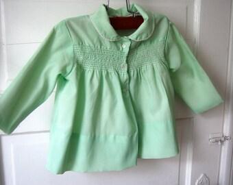 Mint green vintage baby coat