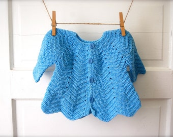 Vintage Baby Sweater Dress in Blue
