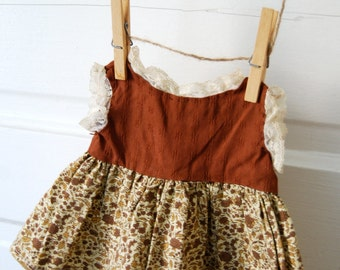 Vintage Doll Dress Country Sweet