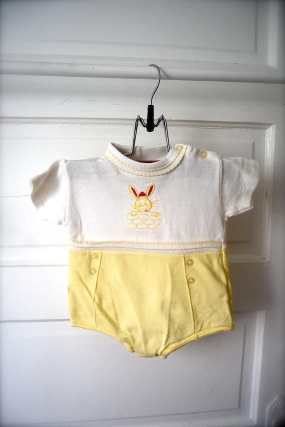 Retro Baby Boy Bunny Outfit