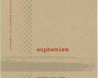 Euphemism card, Happy Birthday card,  Lexicon Line No. 7916