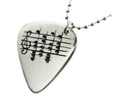 Your Favorite Song Guirar Pick - Men Gift - One of a Kind - Sterling Silver - Personalized Unisex Gift - Women - Rickson Jewellery
