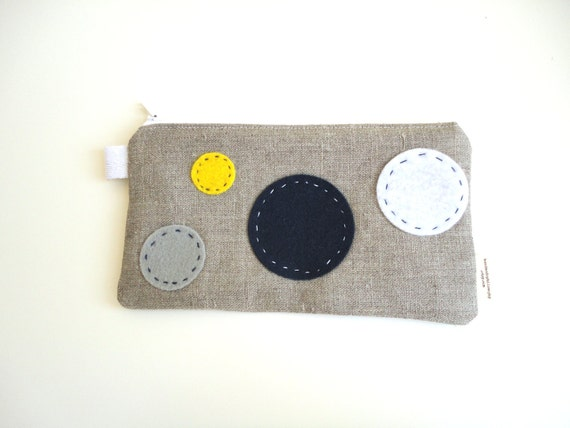 Sky Zippered Pouch Small / Pencil Case