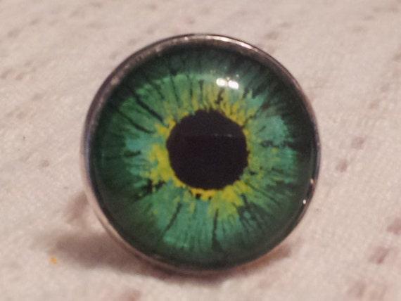 Eyeball Ring Iris OOAK Hand painted