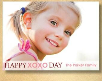 custom photo valentine--happy xoxo day