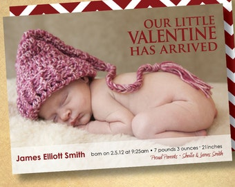 birth announcement- welcome our little valentine
