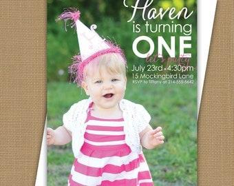 Photo Birthday Invitation. Photo birthday announcement