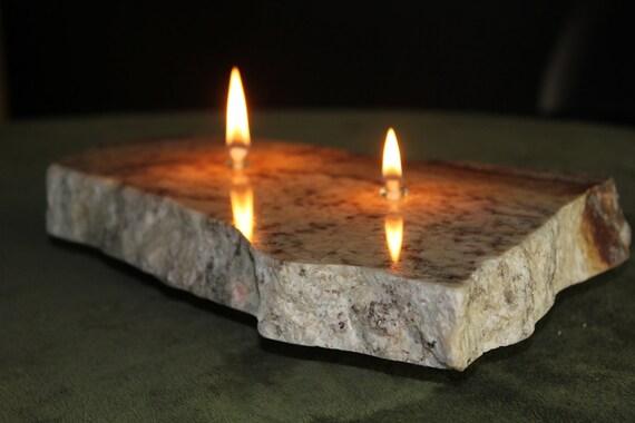 2 Wick Granite Oil Candle