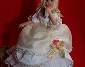 OOAK Miniature Polymer clay Victorian Doll