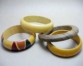 Vintage Wood Bracelet Lot