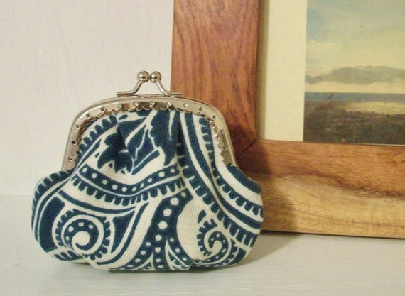 SALE coin purse // modern paisley // designer print