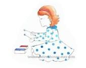 print for girls bedroom, girl playing chime bars, A4 print