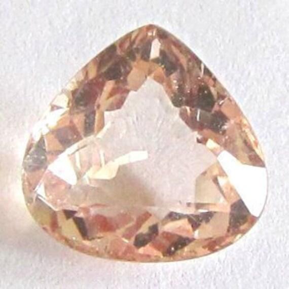 RESERVED to rosealba ---- Natural Pinkish Orange Morganite, Brazil, Unheated, Pear, 8.8x8.5x4.7 mm, 1.9 carat