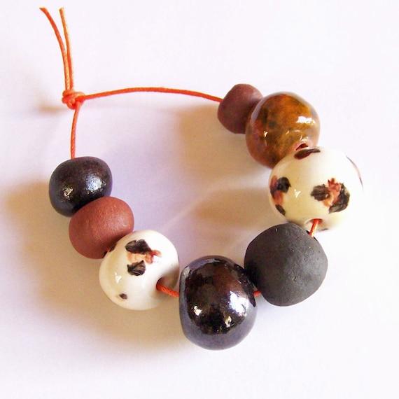 African beads, ceramic beads