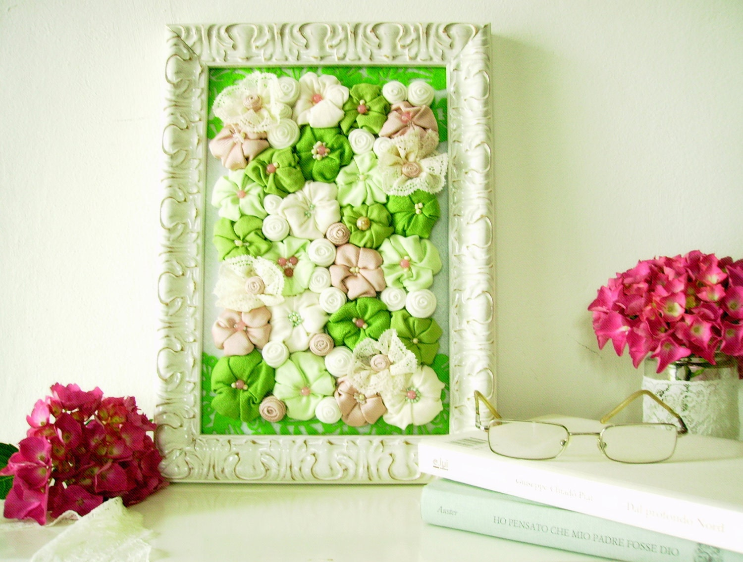 Famous White 3d Flower Wall Decor Contemporary - The Wall Art ...