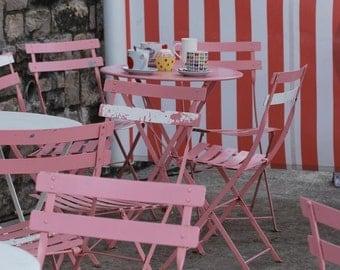 photographic print: a tea shop in Lyme Regis