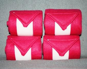 Hot Pink Polo Wraps (set of four), Leg Wraps