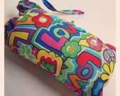 Small Pipe Pouch Rainbow Peace, Love, Hippie Design with Rhinestones