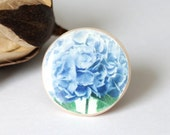Navy blue flower ring - Spring trends: shabby chic, vintage look and floral prints