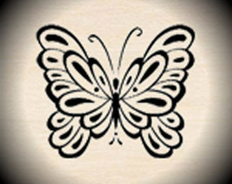 Wood Mounted Rubber Stamp Butterfly