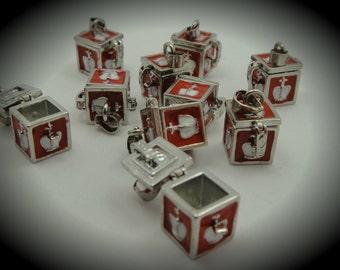 Chest Design Prayer Box Locket in Silver Plated Three Dimensional Pendant Charm