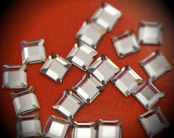 4mm Clear Square Hot Flatback Crystallized Swarovski Crystals