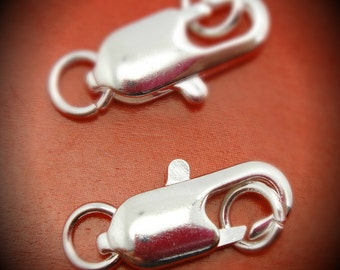 17MM Silver Plated Large Lobster Claw Clasps