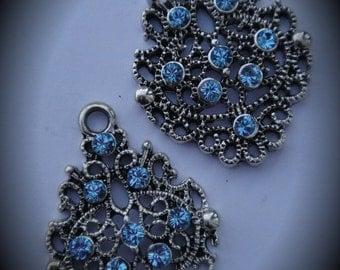 Genuine Silver Plated Swarovski Crystal Chandelier Earrings