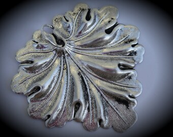 Large Silver Plated Leaf Pendant