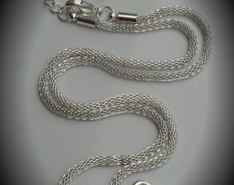 Genuine Silver Plated Swarovski Crystal Mesh Necklace