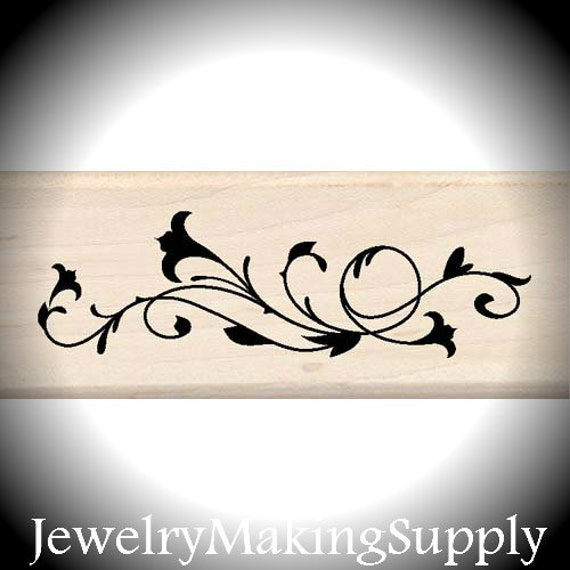 Wood Mounted Rubber Stamp No Vine Before Its time