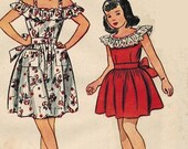 reserved for CU Simplicity 2030 40s Fab Off Shoulder DRESS Vintage Sewing Pattern Size 10 B28