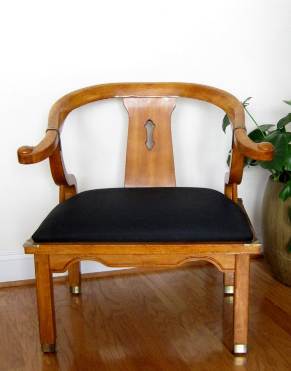"""JAMES MONT """"Ming Dynasty"""" Side Chair - Mid Century Hollywood Regency Chinoisiere"""