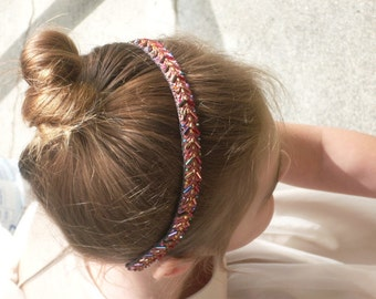 Copper Beaded Headband Bridal Bridesmaid Flowergirl Elegant Vintage Repurposed