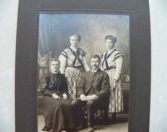 Antique 1900's Family Portrait Photograph