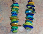 Jewelry Multi-Color Chip Bead Earrings
