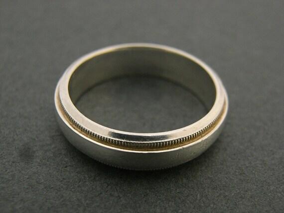 Vintage 50s sterling silver wedding ring