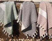 Eco Friendly - Set of 3 - Turkish Peshkir Towel - Kitchen Towel - Place Mat - Hand Towel