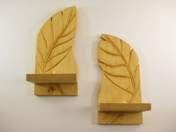 Candle wall sconce leaf set