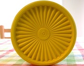 "Vintage Tupperware Yellow 7"" Tall Canister"