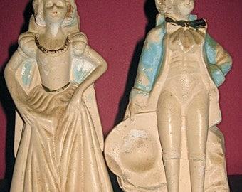 1940s Chalk Figurines - Aristocrat Couple