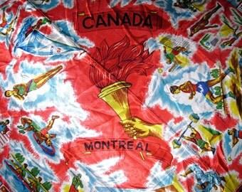 Vintage Olympics - 1976 Canada Summer Games Olympics  Souvenir Scarf