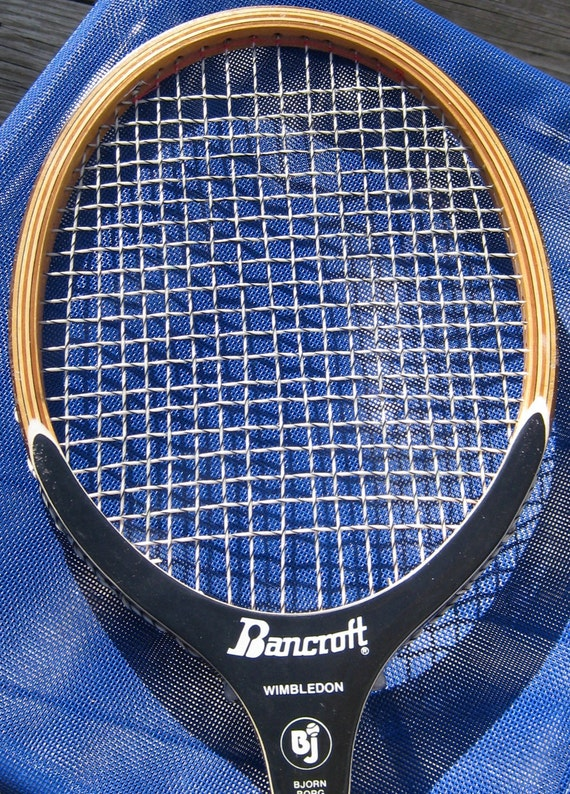 Bancroft Wimbledon Bjorn Borg wood Tennis Racket - with Vintage Red Vinyl Cover from Carnaby Sporting Goods