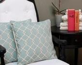 Set of 2-- Ice Dreams, 16x16 inch Pillow Cover, Throw pillows, Pillow Case, Home Decor, Designer, Tan, Scroll Pillows