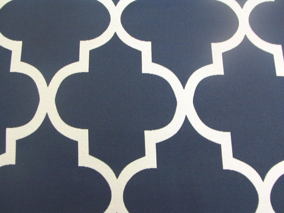 Pillow Covers 16x16 inch--(Set of 2) Quatrefoil Navy/Cream