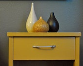 Reserved for lisa : Side table mustard yellow mid century retro mod vintage bedside end table