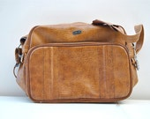 Camel brown shoulder bag luggage fathers day gift for him