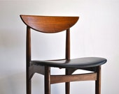 Mid Century Lane teak and leather chair -Etsy Front Page Item